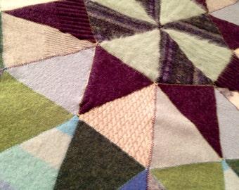 Recycled Wool Baby/Lap Blanket-Mandala