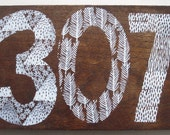 Reclaimed Repurposed Wood-Upcycled hand stamped wall art-ready to hang-Wyoming area Code 307