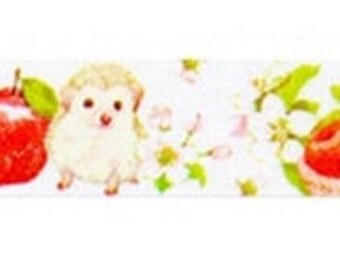 MANET Washi Masking Tape - Apple Hedgehog / Tulip Rabbit - Kawaii!