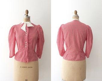 1940s blouse / 40s cotton blouse / Abby blouse