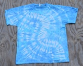 Soothing Waves Pastel Blue Tie Dye T-shirt (Jerzees HiDensiT Size L)(One of a Kind)