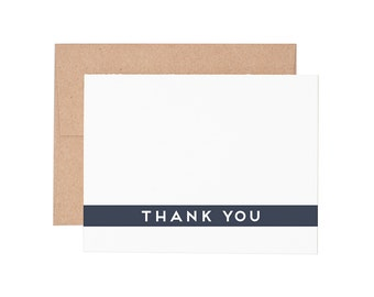 Simple Thank You Letterpress Greeting Card - Thank You Card | Thanks | Greeting Cards | Letterpress Cards