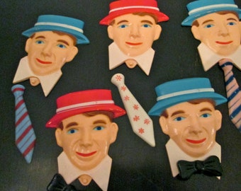 SUGAR DADDY Cake Toppers /  Vintage Midcentury /Father's Day / Baking Supplies / Birthday / Cake Decoration / Cupcake Toppers/ Art Supply