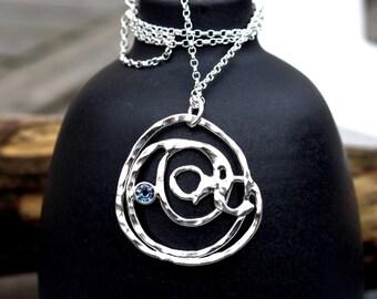 Alexandrite Silver Necklace, Colour Change Alexandrite Silver Pendant Necklace, June Birthstone, Ecofriendly Jewellery, Silver Pendant