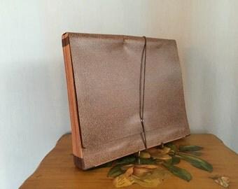 File Folder Vintage Brown Monthly Folders Tabs Office Binder