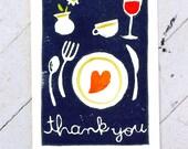 Dinner - Thanks for Having Us Greeting Card