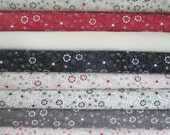 Black White Grey Red Half Yard Fabric Bundle - Mama Said Sew Revisited Volume II - Sweetwater - Moda
