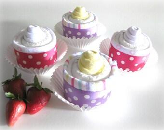 Sweet Treats  Diaper Cupcakes - Set of 4