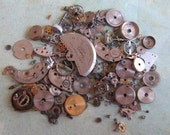 Vintage WATCH PARTS gears - Steampunk parts - z8 Listing is for all the watch parts seen in photos