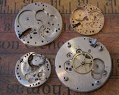 Vintage pocket Watch movement parts - Pocket watch plates Steampunk - Scrapbooking p3