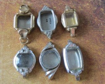 Vintage  Watch parts - watch Cases -  Steampunk - Scrapbooking  f55