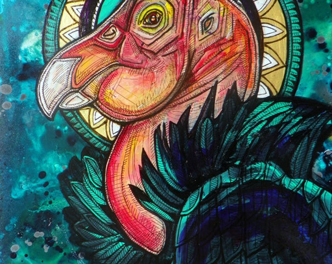 "Original ""The Condor King"" Painting by Lynnette Shelley"