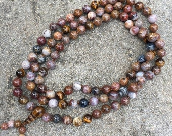 Pietersite 108 Bead Mala Necklace