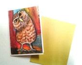 Owl Card, Burrowing Owl, Curious Owl, A2 Card