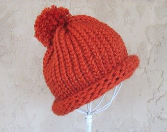 Adult Hand Knit Hat  Ready to Ship
