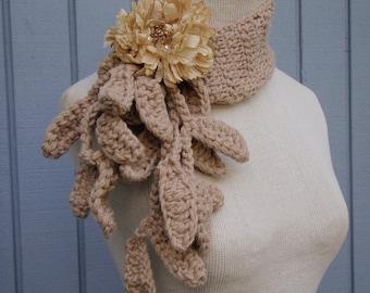 Scarf, Decorative all occasion scarf, Fall fashion,crochet scarf, handmade scarf