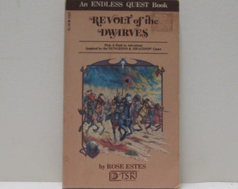 D & D 1st Edition Endless Quest Book TSR Dungeons and Dragons Revolt of the Dwarves