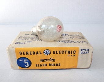 GE No.5 Sure-Fire Flash Bulbs Pack of 4  No. 5 Clear