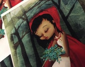 SALE print - 'Little red riding hood' 8x10 glossy Print