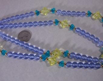 Vintage MONET Lucite Translucent Bead Necklace