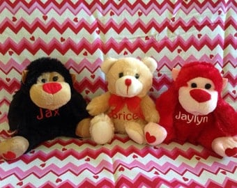 Plush Personalized Valentine Toys