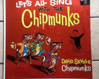 Let's Alll Sing with the Chipmunks Record by Liberty