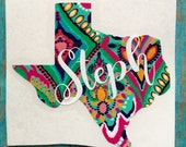 Lilly Pulitzer Inspired/Yeti/Rtic/Texas Decal/Sticker/Name Decal/YETI sticker