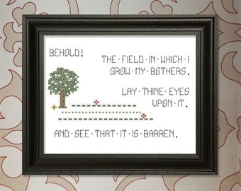 Behold!  My Field of Bothers!  Cross-stitch Pattern