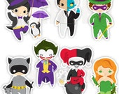 Gotham Villians Stickers