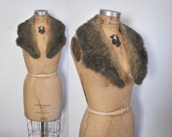 Genuine Fur Collar / 1970s boho