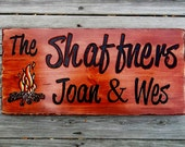 Camping & Name and Address SIGNS - personally designed with you in mind. . . . . . . .