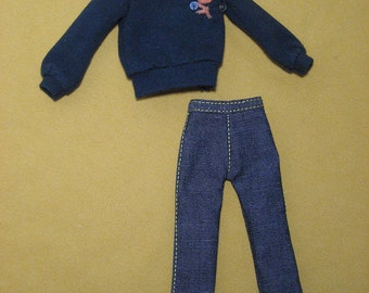 Shirt and Denim Pants  for Blythe