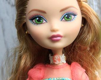 Carnelian Cameo Lace Choker Gothic Doll Jewelry Set fits Petite Slimline High Dolls