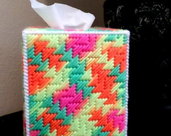 Boutique Tissue Box Cover - Day Glow