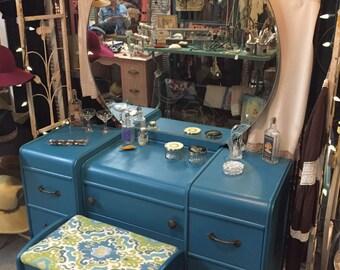 Bohemian blue vanity or dresser