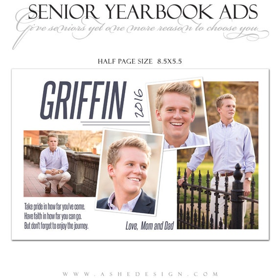 senior yearbook ads photoshop templates the journey high school yearbook ad custom design. Black Bedroom Furniture Sets. Home Design Ideas