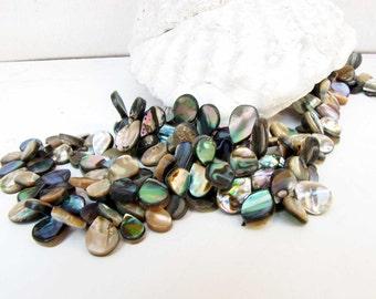 Abalone  Teardrop Jewelry Gemstone 5 Beads Jewelry Necklace Bracelet earring supply