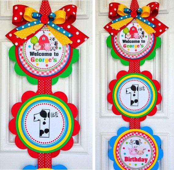 Barnyard Vertical Door Sign,Welcome Door Hanger,Farm Animals,Barnyard Birthday