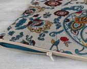 Laptop sleeve case cover for a 13 inch Macbook/ linen/ zipper/new 2016 collection