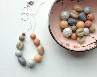 sandstorm - necklace - vintage remixed lucite