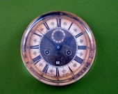 Antique Clock Face Large Round Glass Paperweight Home Decor