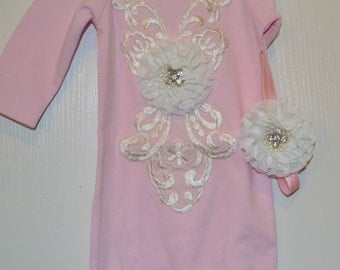 Take me Home Outfit Gown NEW to Shop for Infant Newborn photo prop Wedding an Oh BABy Original