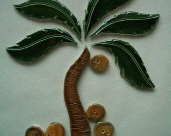 TOT - Smaller PALM TREE Set - Ceramic Mosaic Tile Set