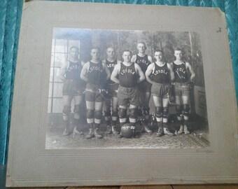 Vintage Loyola Basketball Team Photograph 1919-1920 Season