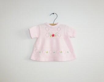 Vintage Pink Baby Sweater Top