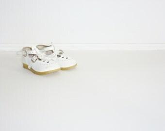 Vintage White Toddler Shoes