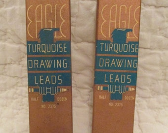 Vintage Eagle Drawing Leads Turquoise 1935  3H and H SALE