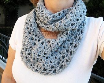 Crochet Pattern,Infinity Scarf Pattern, Wrap Scarf, Shawl, Cowl, Tutorial Crochet