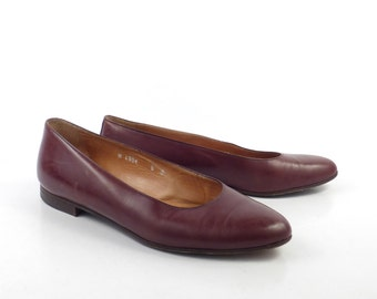 Ralph Lauren Shoes Vintage Polo Flat Loafers 1980s Ballet Brown Women's size 6