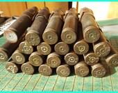 Brass Bullet shell Belt, 50 cal, BMG, big brass,old ammo, World War II, apocolyptic, steampunk, found art, Ma Deuce, man cave, machine gun
